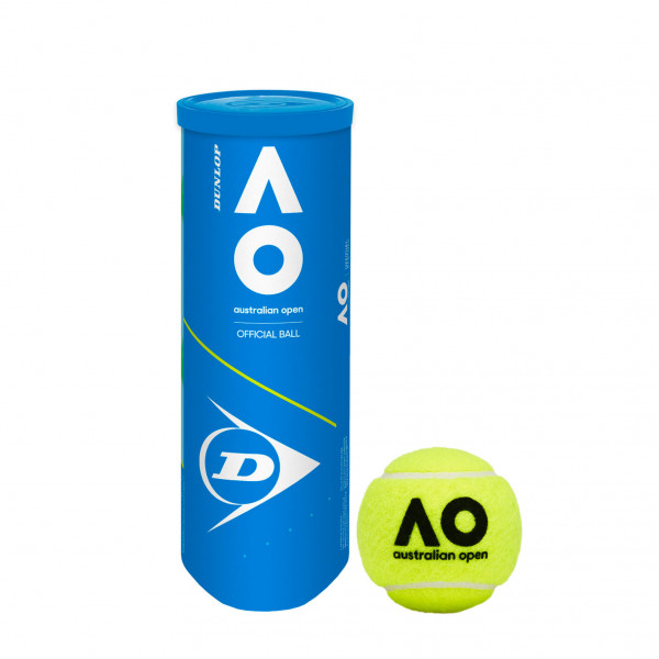Dunlop Australian Open Tennis Ball - Can of 3 Balls